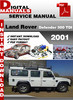Thumbnail Land Rover Defender 300 Tdi 2001 Factory Service Repair Manu