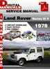 Thumbnail Land Rover Series Iii 3 1978 Factory Service Repair Manual