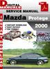 Thumbnail Mazda Protege 2000 Factory Service Repair Manual