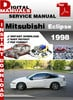 Thumbnail Mitsubishi Eclipse 1998 Factory Service Repair Manual