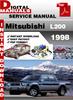 Thumbnail Mitsubishi L200 1998 Factory Service Repair Manual