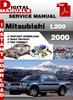 Thumbnail Mitsubishi L200 2000 Factory Service Repair Manual