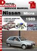 Thumbnail Nissan Micra 1989 Factory Service Repair Manual