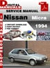 Thumbnail Nissan Micra 1994 Factory Service Repair Manual
