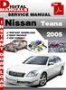 Thumbnail Nissan Teana 2005 Factory Service Repair Manual