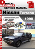 Thumbnail Nissan Terrano 1998 Factory Service Repair Manual