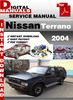 Thumbnail Nissan Terrano 2004 Factory Service Repair Manual