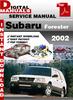 Thumbnail Subaru Forester 2002 Factory Service Repair Manual