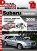 Thumbnail Subaru Forester 2006 Factory Service Repair Manual