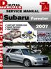 Thumbnail Subaru Forester 2007 Factory Service Repair Manual
