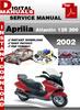 Thumbnail Aprilia Atlantic 125 and 200 2002 Factory Service Repair Man