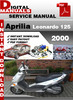 Thumbnail Aprilia Leonardo 125 2000 Factory Service Repair Manual