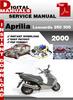 Thumbnail Aprilia Leonardo 250 300 2000 Factory Service Repair Manual