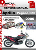 Thumbnail Aprilia Pegaso 650 2000 Factory Service Repair Manual