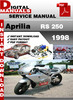 Thumbnail Aprilia RS 250 1998 Factory Service Repair Manual