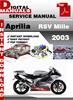 Thumbnail Aprilia RSV Mille 2003 Factory Service Repair Manual