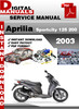 Thumbnail Aprilia Sportcity 125 200 2003 Factory Service Repair Manual