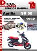 Thumbnail Aprilia SR 50 1992 Factory Service Repair Manual