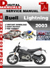 Thumbnail Buell Lightning 2003 Factory Service Repair Manual