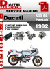 Thumbnail Ducati 500 SL Pantah 1992 Factory Service Repair Manual