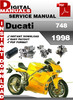 Thumbnail Ducati 748 1998 Factory Service Repair Manual