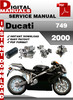Thumbnail Ducati 749 2000 Factory Service Repair Manual