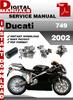 Thumbnail Ducati 749 2002 Factory Service Repair Manual