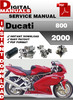 Thumbnail Ducati 800 2000 Factory Service Repair Manual