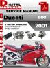 Thumbnail Ducati 800 2001 Factory Service Repair Manual