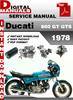 Thumbnail Ducati 860 GT GTS 1978 Factory Service Repair Manual