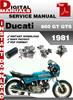 Thumbnail Ducati 860 GT GTS 1981 Factory Service Repair Manual
