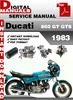Thumbnail Ducati 860 GT GTS 1983 Factory Service Repair Manual