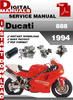 Thumbnail Ducati 888 1994 Factory Service Repair Manual