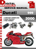 Thumbnail Ducati 999 2000 Factory Service Repair Manual