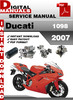 Thumbnail Ducati 1098 2007 Factory Service Repair Manual