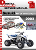 Thumbnail Suzuki ATV LT 250 Quad Sport 2003 Factory Service Repair Manual