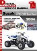 Thumbnail Suzuki ATV LT 250 Quad Sport 2004 Factory Service Repair Man