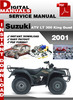 Thumbnail Suzuki ATV LT 300 King Quad 2001 Factory Service Repair Manu