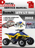 Thumbnail Suzuki ATV LT 500 2002 Factory Service Repair Manual Pdf
