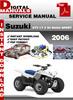 Thumbnail Suzuki ATV LT Z 50 QUAD SPORT 2006 Factory Service Repair Ma