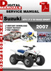 Thumbnail Suzuki ATV LT Z 50 QUAD SPORT 2007 Factory Service Repair Ma