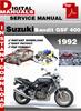 Thumbnail Suzuki Bandit GSF 400 1992 Factory Service Repair Manual Pdf