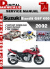 Thumbnail Suzuki Bandit GSF 650 2002 Factory Service Repair Manual Pdf