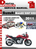 Thumbnail Suzuki Bandit GSF 650 2011 Factory Service Repair Manual Pdf