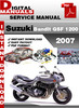 Thumbnail Suzuki Bandit GSF 1200 2007 Factory Service Repair Manual Pd