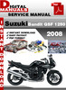 Thumbnail Suzuki Bandit GSF 1250 2008 Factory Service Repair Manual Pd