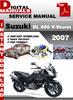 Thumbnail Suzuki DL 650 V-Storm 2007 Factory Service Repair Manual Pdf