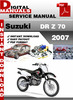 Thumbnail Suzuki DR Z 70 2007 Factory Service Repair Manual Pdf