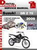Thumbnail Suzuki DR Z 70 2009 Factory Service Repair Manual Pdf