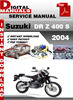Thumbnail Suzuki DR Z 400 S 2004 Factory Service Repair Manual Pdf